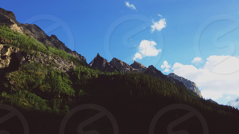 mountain and cirrus cloud view  photo