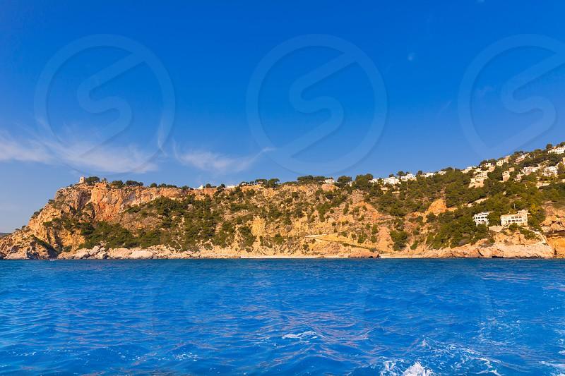 Javea playa Ambolo caleta Figuera Xabia in Alicante Mediterranean Spain photo