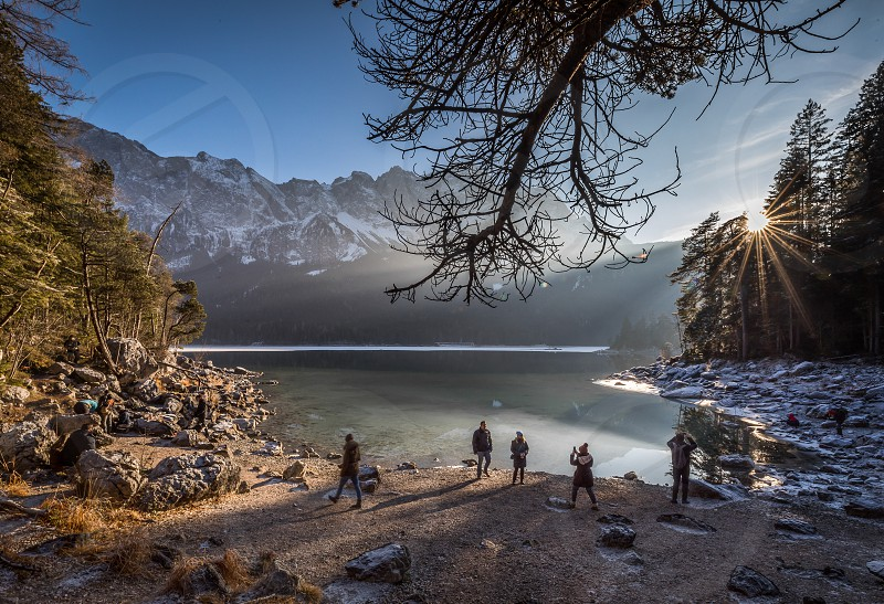 Impressions around the Eibsee and the Zugspitze in Bavaria Germany photo