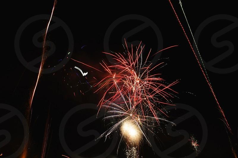 fireworks show micro shot photo