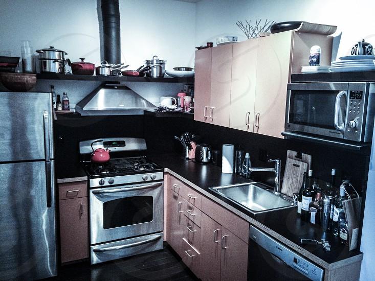 Modern condo kitchen photo