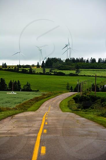 Road Windmills Prince Edward Island photo