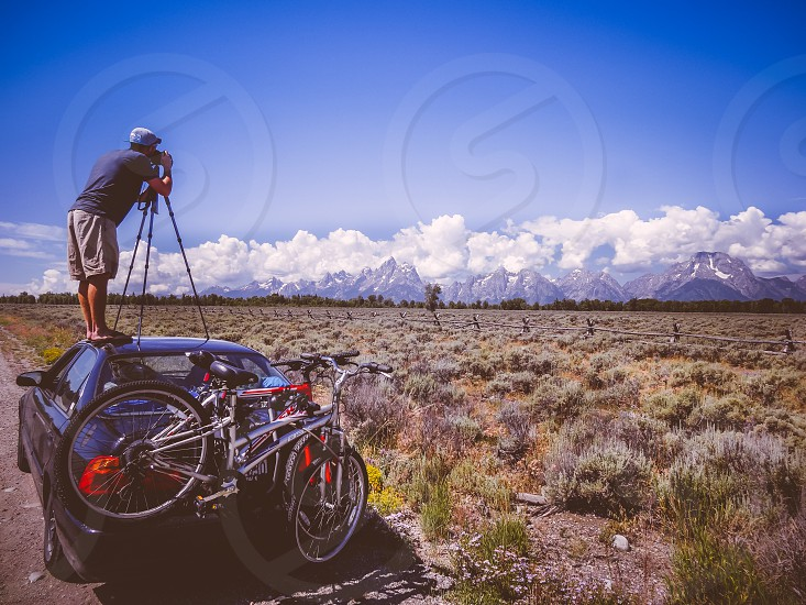 Taking the old Ansel Adams approach to getting the shot of the Grand Tetons Range in Wyoming. photo