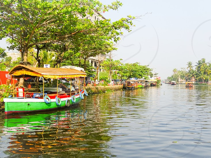 Boat rides - Allepey backwaters Kerala photo