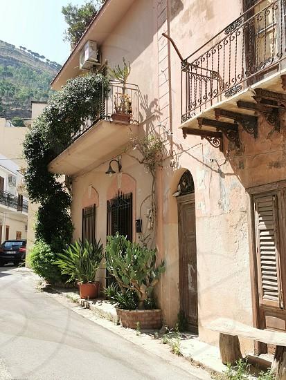 An ancient street in Castellammare del Golfo - Sicilia photo