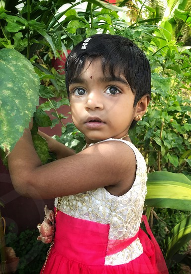 A small girl child  photo