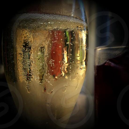 clear wine glass photo