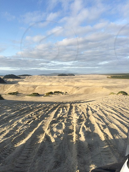 Beautiful Oregon sand dunes. photo