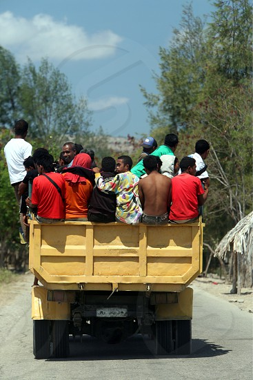 a road near at the village of Moubisse in the south of East Timor in southeastasia. photo