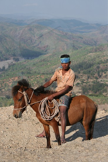 Farmers in the landscape near the Village Maubisse in the south of East Timor in southeastasia.