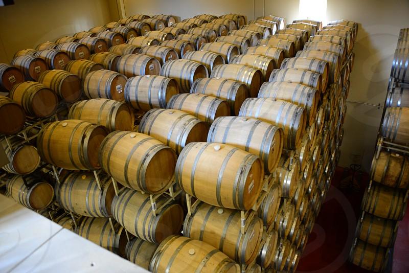 Wine MakingProcessWineGrapesBarrelsNapa ValleyCalifornia photo