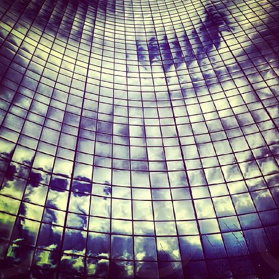 Reflection sky building photo