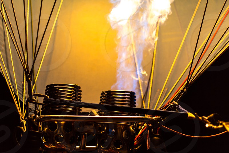 hot air balloon propane gas burner photo