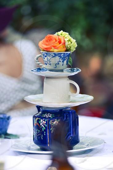 white ceramic stock tea cup photo