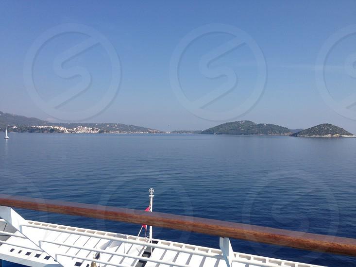 View railings deck sea photo