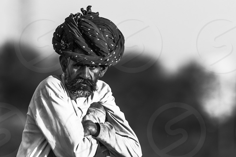 Goatherder from Rajasthan they are from Banjara community usually described as nomadic people from the Indian state of Rajasthan photo