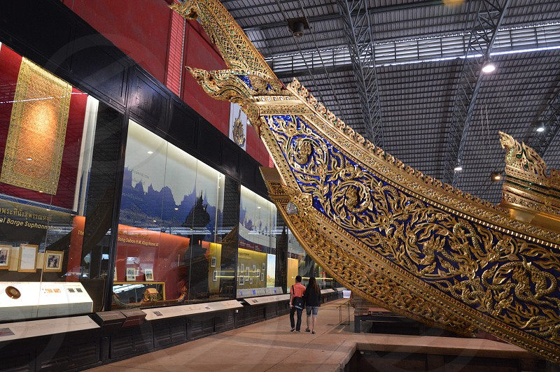 Exhibition at the National Museum of Royal Barges in Bangkok Thailand photo