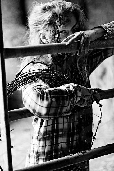 Haunted sfx halloween monochrome photo