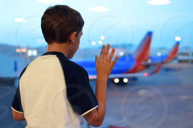 Watching and waiting for your airplane to come in  photo