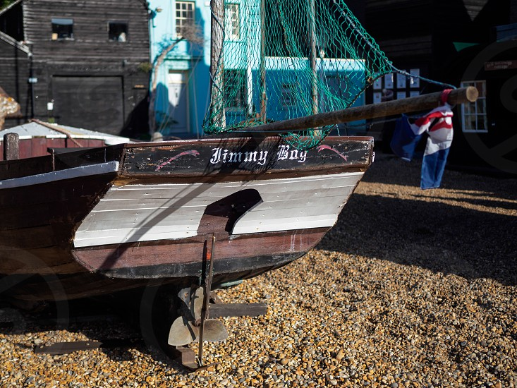 Fishermen's Sheds and Boat  in Hastings photo