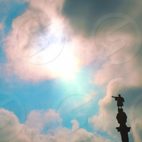 Statue silhouette  photo
