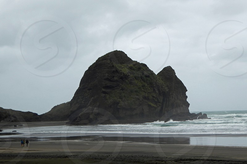 Beach scene west coast of north New Zealand island photo