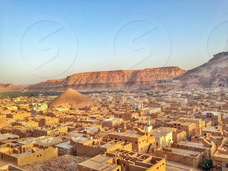 Yemeni desert town  photo