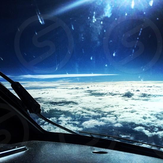 Clouds Sky airplane  photo