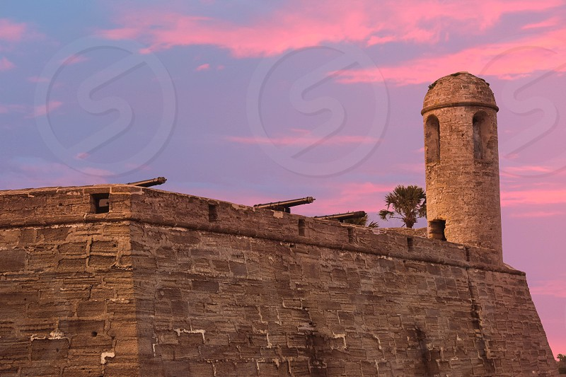 St. Augustine Florida. January 26  2019. Side view of Castillo de San Marcos at Old Town in Florida's Historic Coast (3) photo