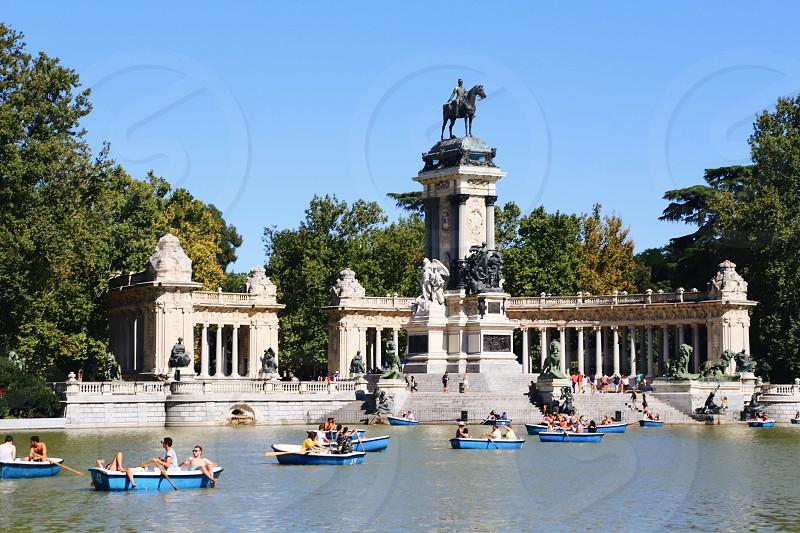 Retiro park Madrid photo