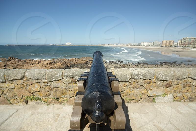the castelo sao francisco xavier on the coast in the city centre of Porto in Porugal in Europe. photo
