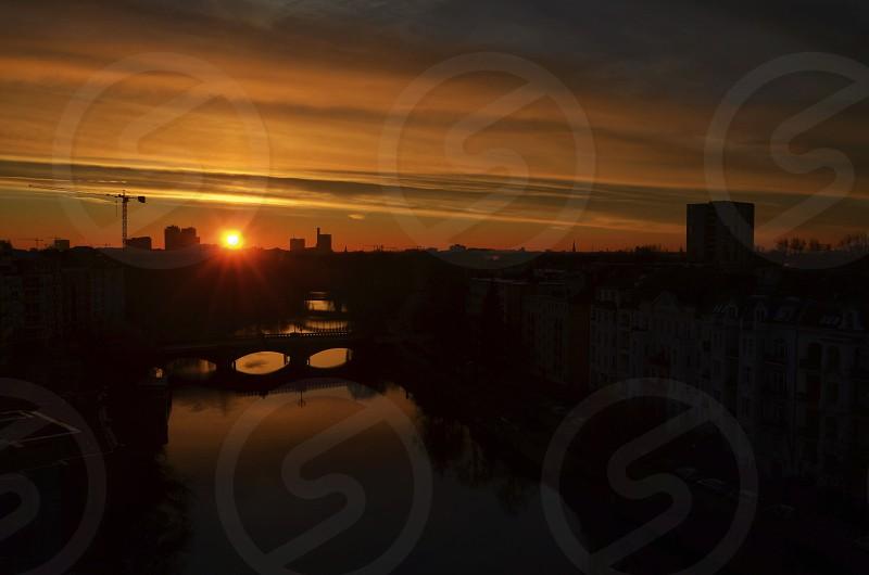city sunset view photo