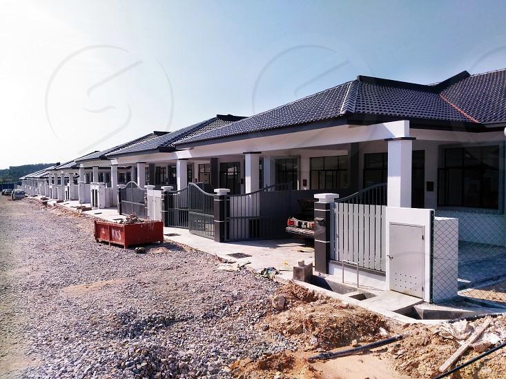 new construction site - terrace house  photo