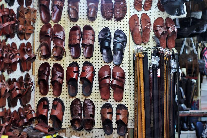 brown sandals photo
