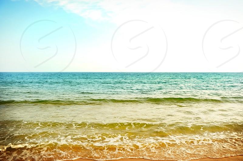 Sea waves colourfull photo