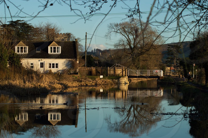 Stroudwater Canal uk landscape water  photo
