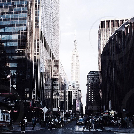 empire state building view from the street photo
