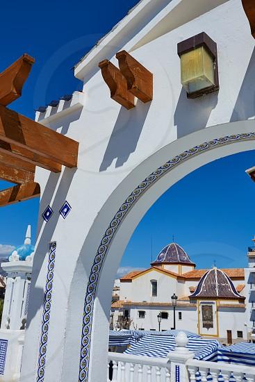 Benidorm Mirador del Castillo Mediterranean lookout point in Alicante Spain photo