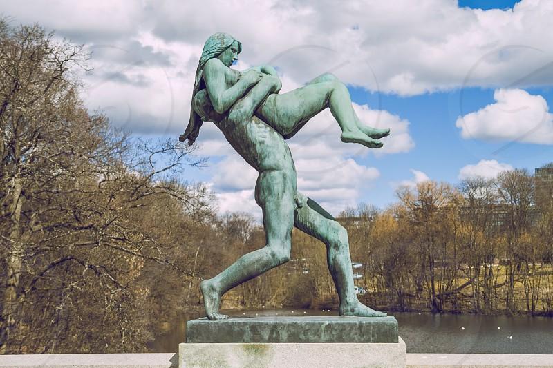 Vigeland Sculpture Park at Oslo. photo