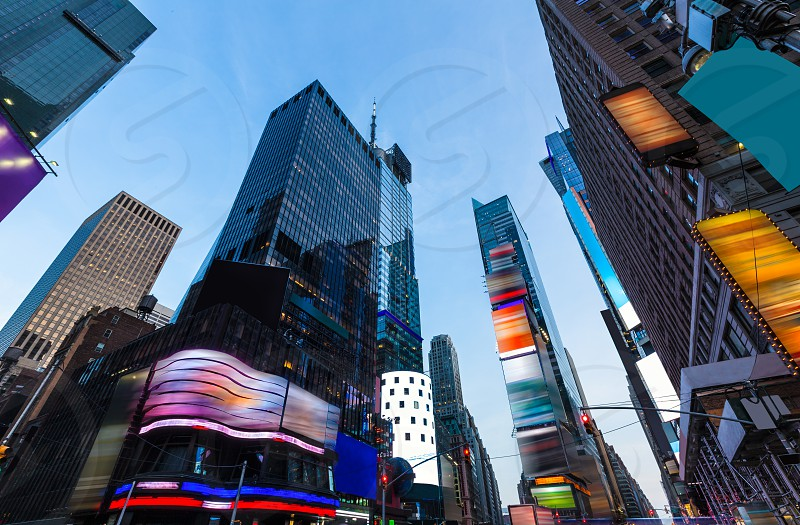 Times Square Manhattan New York all the ads deleted US photo