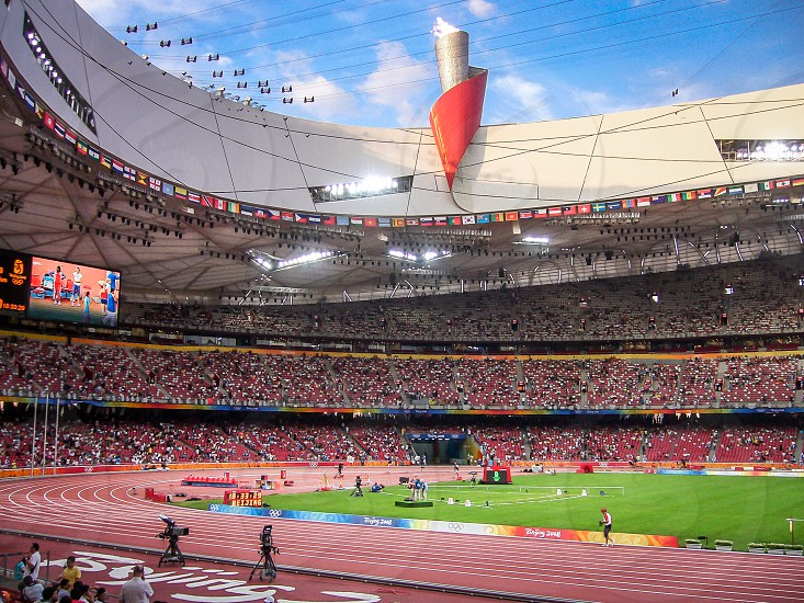 China Beijing national stadium birdnest olympic games sport athletics photo
