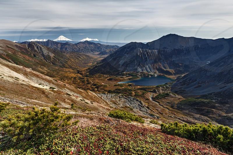 Beautiful mountain autumn landscape. Far East Russia Kamchatka Peninsula. photo