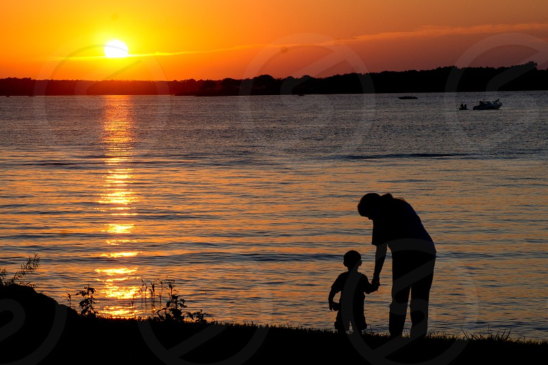 A shared moment at the lake. photo