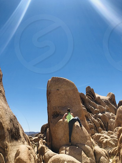 Climbing healthy and fit nature photo