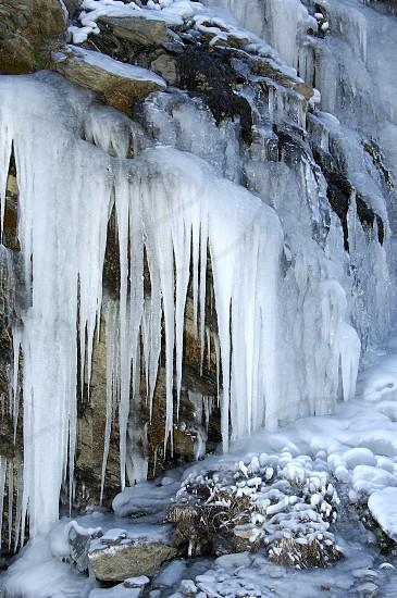 icicles on stone photo