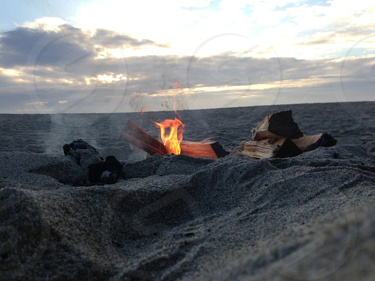 Beach bon fire photo
