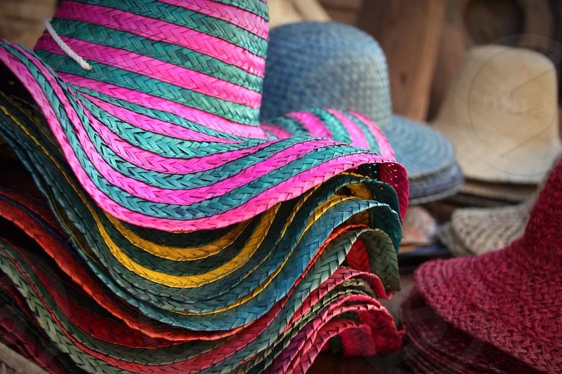 women's beach hat photo