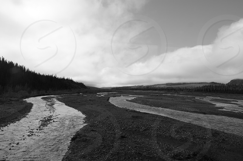 Rivers; Black and White photo