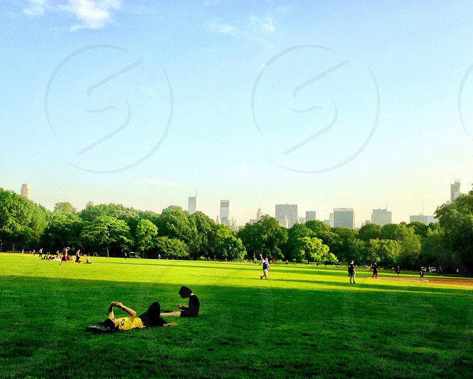 Relaxing... Central Park NYC. photo
