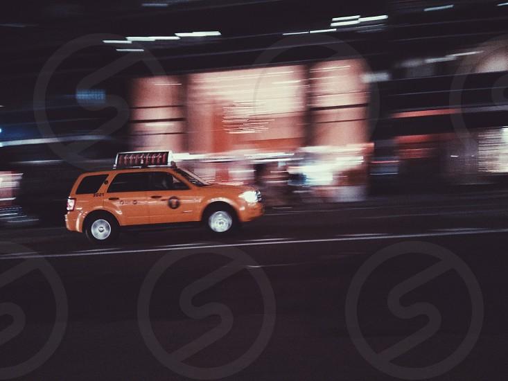 orange sedan photo